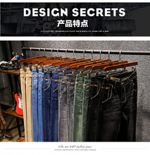 2018 Fashion Spring Summer Jeans Designer Skinny Jeans Men Straigh Mens Casual Biker Denim Jeans Male Stretch Trouser Pant