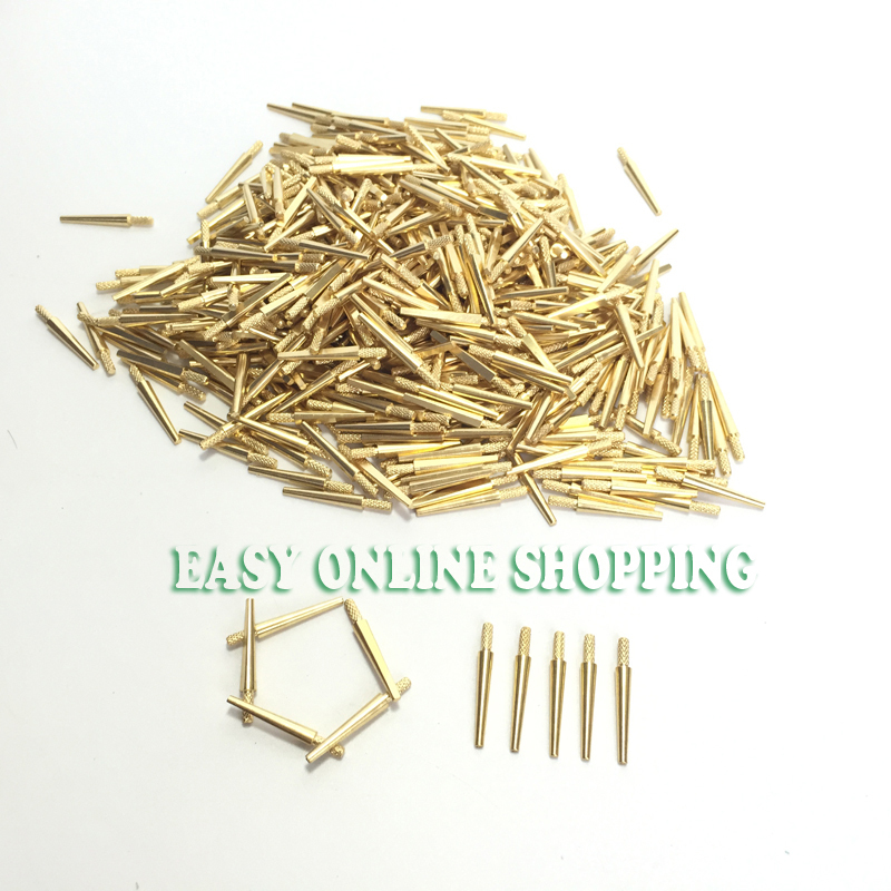 500PCS NEW DENTAL LAB BRASS DOWEL PINS #2 MEDIUM MOLD SUPPLIES