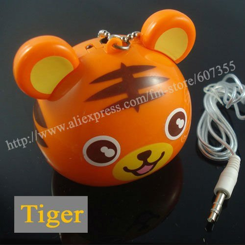 2011 hot new novelty cute animal tiger mini portable speaker for MP3 MP4 player,cell phone,laptop and etc.