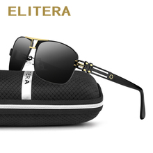 ELITERA Top Quality Brand Designer Cool Polarized Mens Sunglasses Protect Accessories Sun Glasses For Men With Box