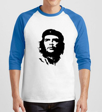 fashion hip-hop style bodybuilding t-shirt Ernesto Guevara print tee shirt homme 2017 summer three quarter sleeve men's t shirts