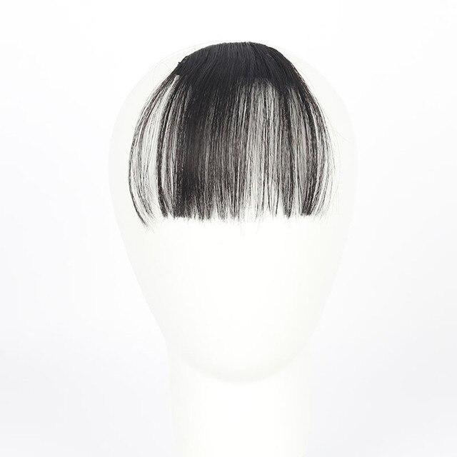 Cuidados Com Os cabelos Styling Acessórios Pretty Girls Clipe Em Estrondo Franja Pedaço da Extensão Do Cabelo Grampo No Cabelo Da Frente de Seda Fina July25