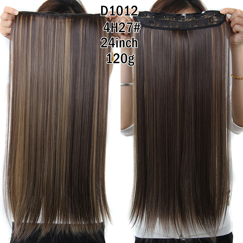 Clip in hair picture more detailed picture about rockstar wigs rockstar wigs 16colors 24inches long straight 5 clips in hair extensions black brown synthetic hair clip pmusecretfo Images