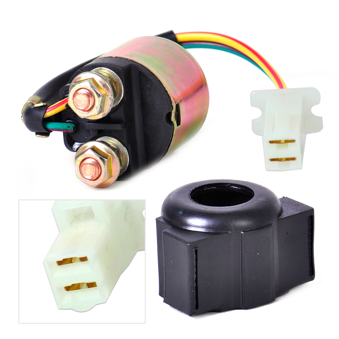 Citall 1pc 2 Wire Plug Connection Starter Relay Solenoid 3ay 81940 Ford Wiring Pits 00 4kd Fit For Yamaha Yfm350 Honda Suzuki In Motorbike Ingition From
