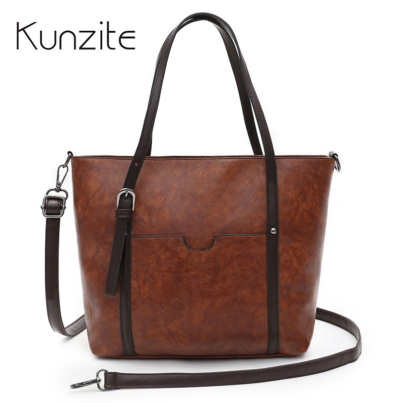Kunzite Drop shipping Vintage PU Leather Shoulder Bag Female Causal Totes for Daily Shopping Bolsos Brand Women Leather Handbag bjmoto vintage motorcycle pu leather saddle bags tool pouch side bag universal for harley honda yamaha luggage bag drop shipping