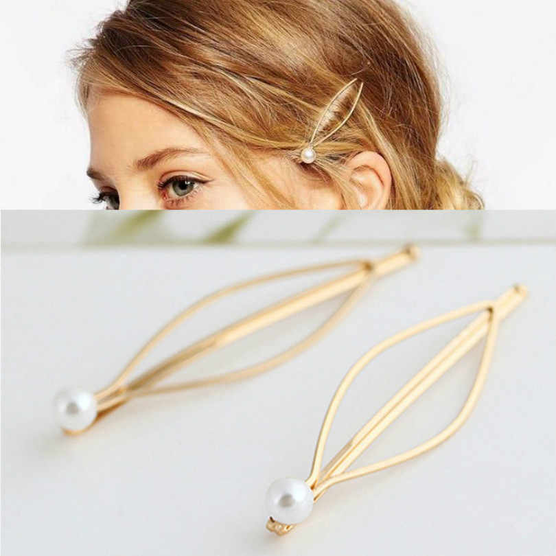 Simple Fashion Jewelry Hairpins Clips Hairpins Hairpins Women Beautiful Plated Women Pearl Hair Clips Bridal Headdress