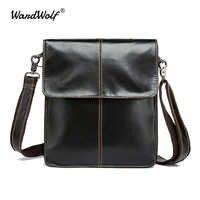 WardWolf мужская сумка через плечо из натуральной кожи Маленькая повседневная мужская сумка мужские сумки через плечо кожаные сумки