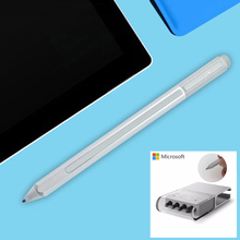 Genuine New Stylus Pen for Microsoft Surface Pro 3 Pro 4 Silver Blutooth Capacitive Ballpoint+Refill tips for Surface Pro 4