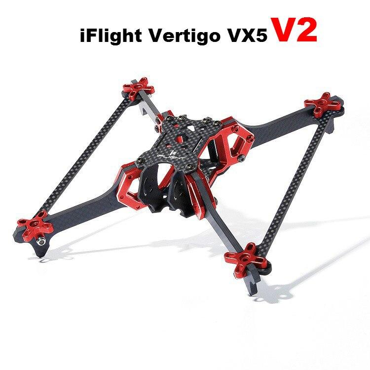 IFlight Vertigo VX5 V2 cadre Drone 200mm empattement 20*20mm trou de montage HX Type cadre Kit pour Drone de course FPV 2205 2207 moteur