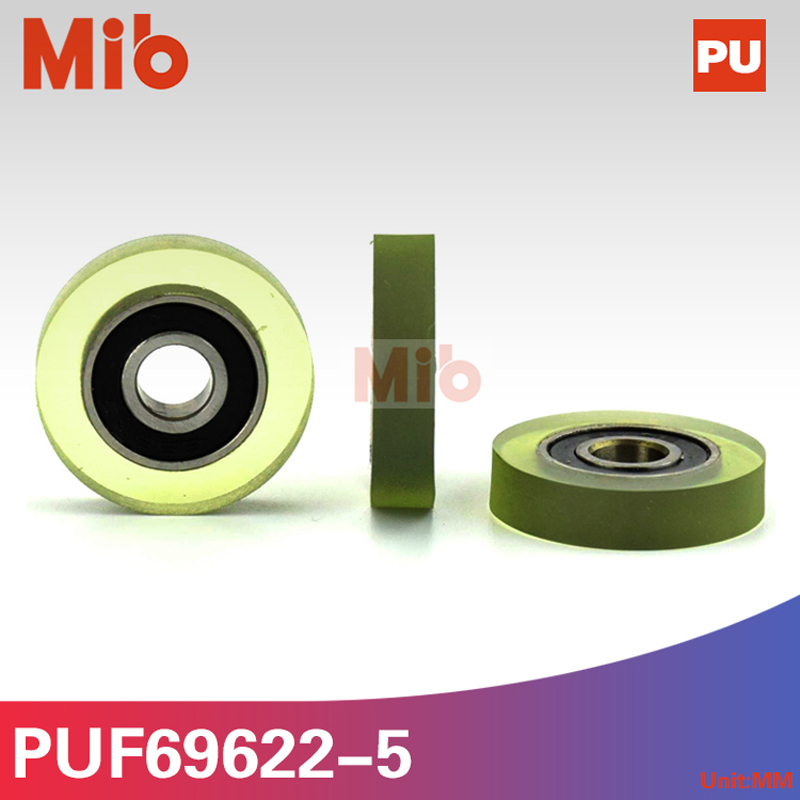 Plastic Nylon U Grooved Bearings With Embedded 696 Inner Diameter 6mm 6*21*7mm