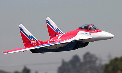 все цены на Scale Skyflight LX Red 70mm EDF MIG29 RC KIT RC Plane Model W/O ESC Motor Servo Battery онлайн
