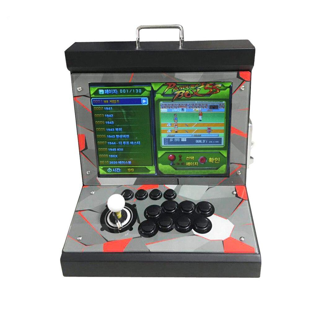 Boîte 9 Mini bartop machine de jeu Arcade Console de jeu vidéo 1388/1500 en 1 boîte 6 s pour 1 joueur 15 pouces écran Pandora boîte