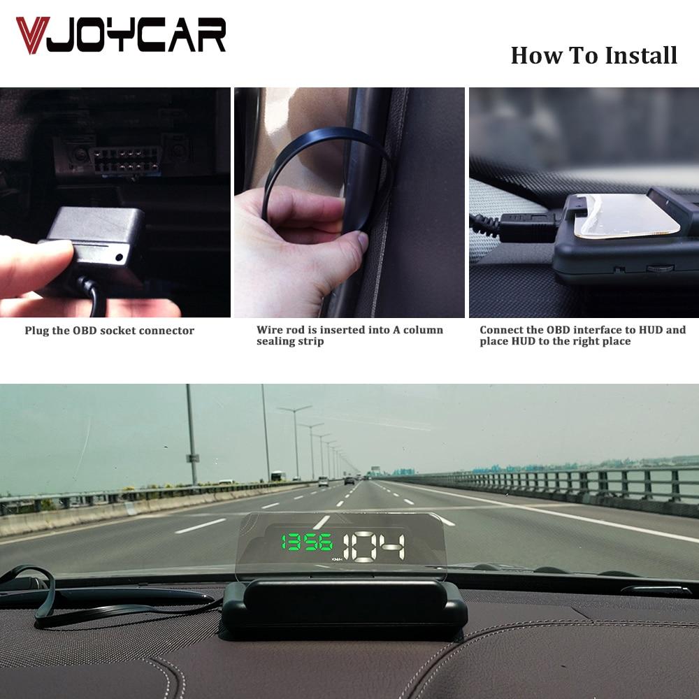 HUD Mirror C500 Car Head up display Windshield Projector Security Alarm Fuel Consumption Mileage RPM Faulty