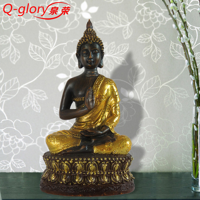 4 Types Buddha Statue Resin Figurines Home Decoration Southeast Asia Decorative Buddha Statues Craft Small Religion