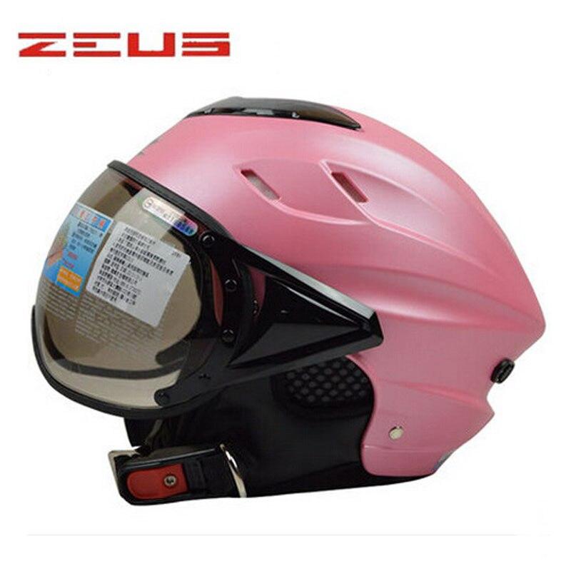 schöne rosa Frauen Sommer ZEUS 125B offener Sturzhelm des - Motorradzubehör und Teile