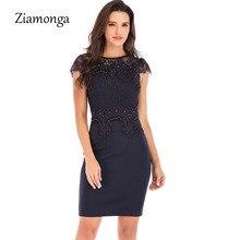 Ziamonga офисные женские туфли Винтаж кружево платье для женщин ретро туника тонкий работы бизнес повседневное пикантн