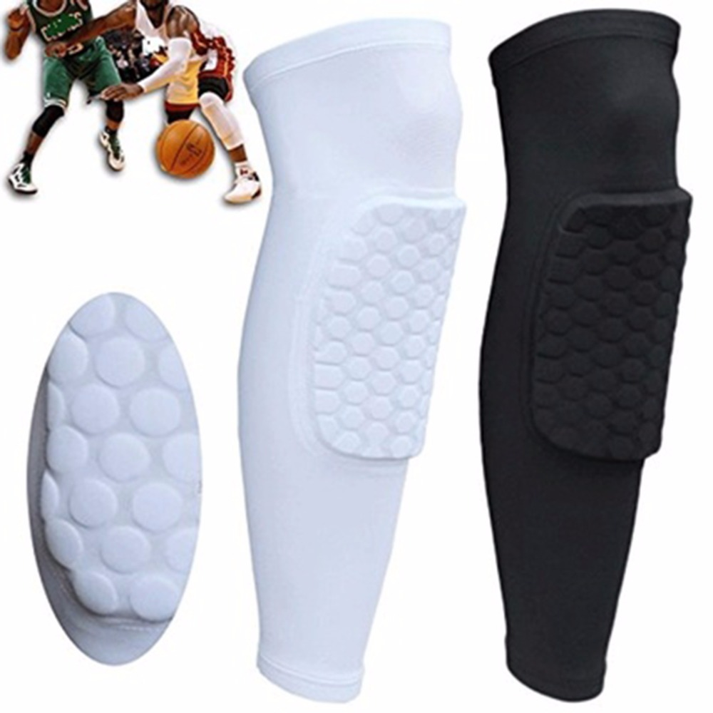 1pcs Kids Voksen Elastisk Pad Basketball Ben Knee Kort Ben Knekke Protector Gear Long Sleeve Protector Gear Crashproof Protection