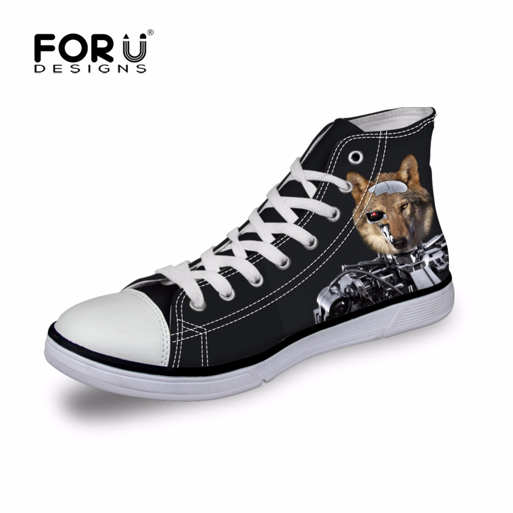 FORUDESIGNS Black Summer Mens Classic Canvas Shoes, Spring Men High Top Casual Shoes,Man Brand Shoes Footwear zapatos hombre