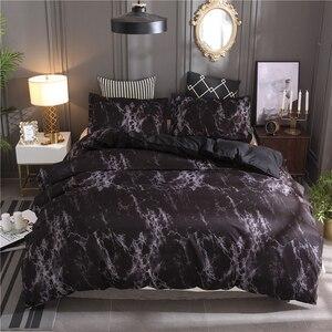 Image 4 - LOVINSUNSHINE Juego de ropa de cama de mármol, funda de edredón de doble reina, edredón, juegos de cama King AB01 #