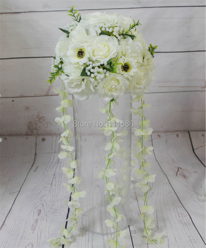 SPR NEW Free shipping 10pcs lot wedding road lead artificial flowers wedding table centerpiece flower balls