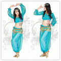 princess jasmine costumes for women aladdin halloween costumes tops + pants aladdin and jasmine adult blue genie aladdin costume