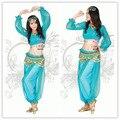 princess jasmine costumes for women aladdin halloween costumes tops + pants aladdin and jasmine adult blue genie aladdin costume