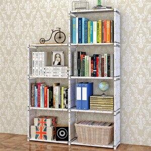 Image 4 - ชั้นวางหนังสือโมเดิร์นยืนชั้นวาง DIY มัลติฟังก์ชั่ชั้นวาง 4 ชั้น 5 ชั้น Combination Home เฟอร์นิเจอร์ Book Case