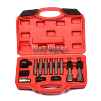 * 13 Pcs Alternator Freewheel Pulley Removal Engine Auto Tool Set For Mercedes Be nz BM W