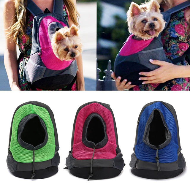 2 Size Portable Pet Carrier Dog Bags Carry Bag Puppy Travel Mesh Double Shoulder