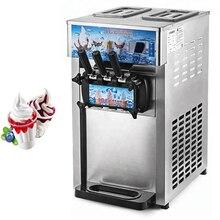 Мягкая машина для мороженого производители/Новая промышленная нержавеющая сталь настольная машина мягкое мороженое с 3 вкусами