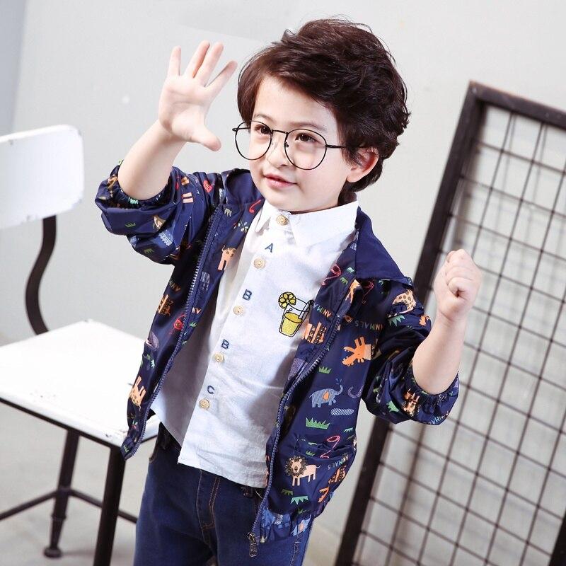 Для маленьких мальчиков и пальто для девочек дождливый верхняя одежда малыша цветочным узором детская одежда