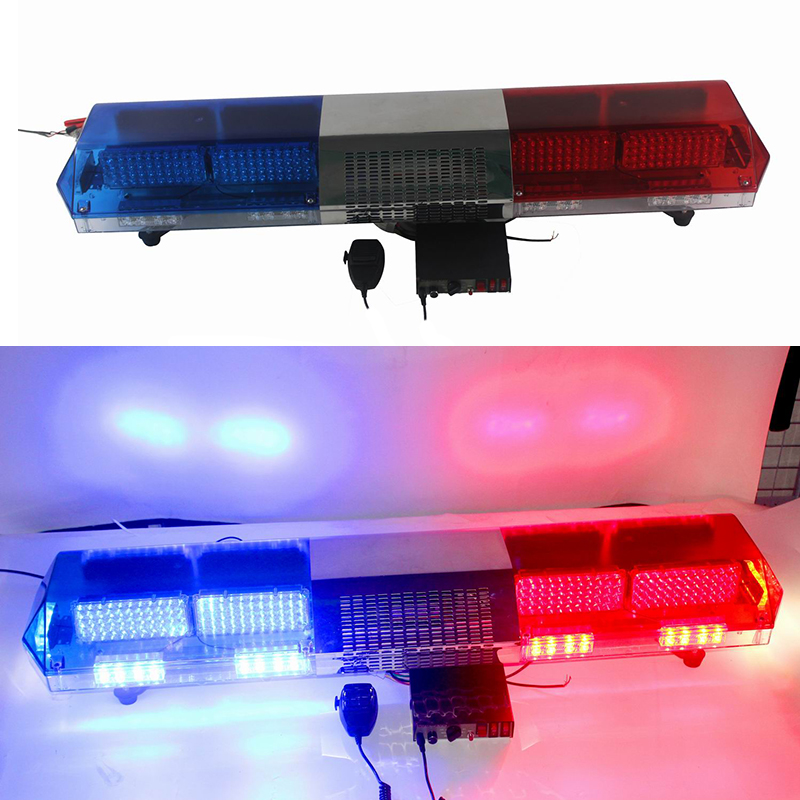 55W Car LED Light Strobe Warning Light for 12V 24V Automobiles Police LED Flashing Light Bar with Siren and Speaker rc led flashing light night light w led board and led extension wire for quadcopter 4 pcs