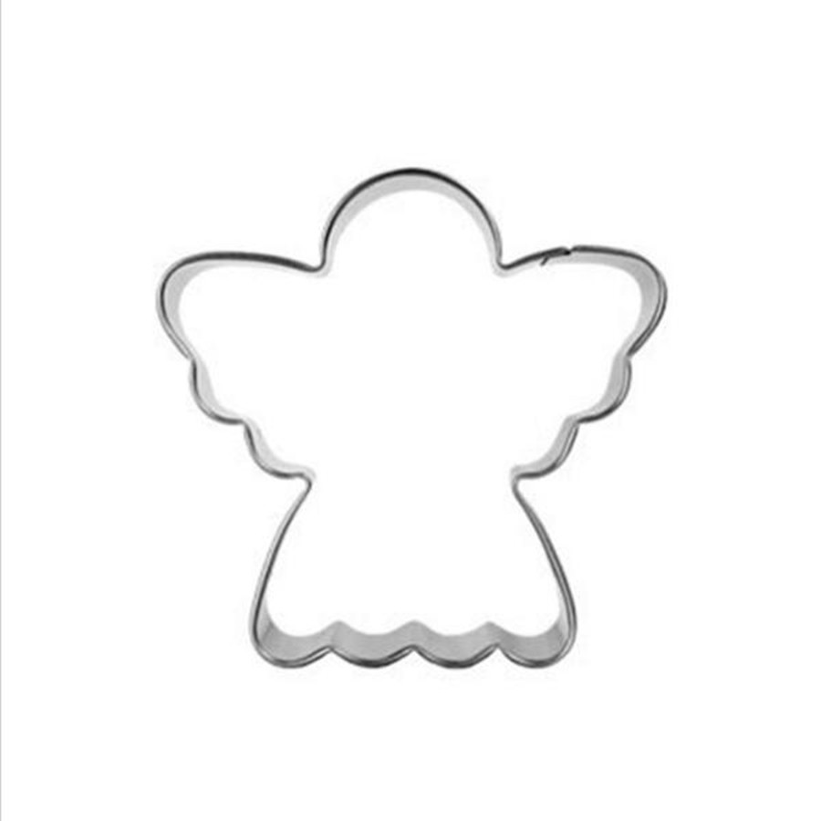 Angel c ake Decoration Pastry Blender Biscuit Cookie Cutter Tools Kitchen Supplies Stainless Steel Chinese New Year Gift