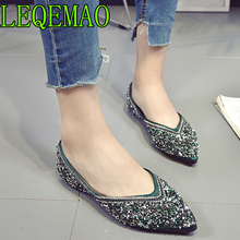 568f13b225 Buy glitter silver flats and get free shipping on AliExpress.com