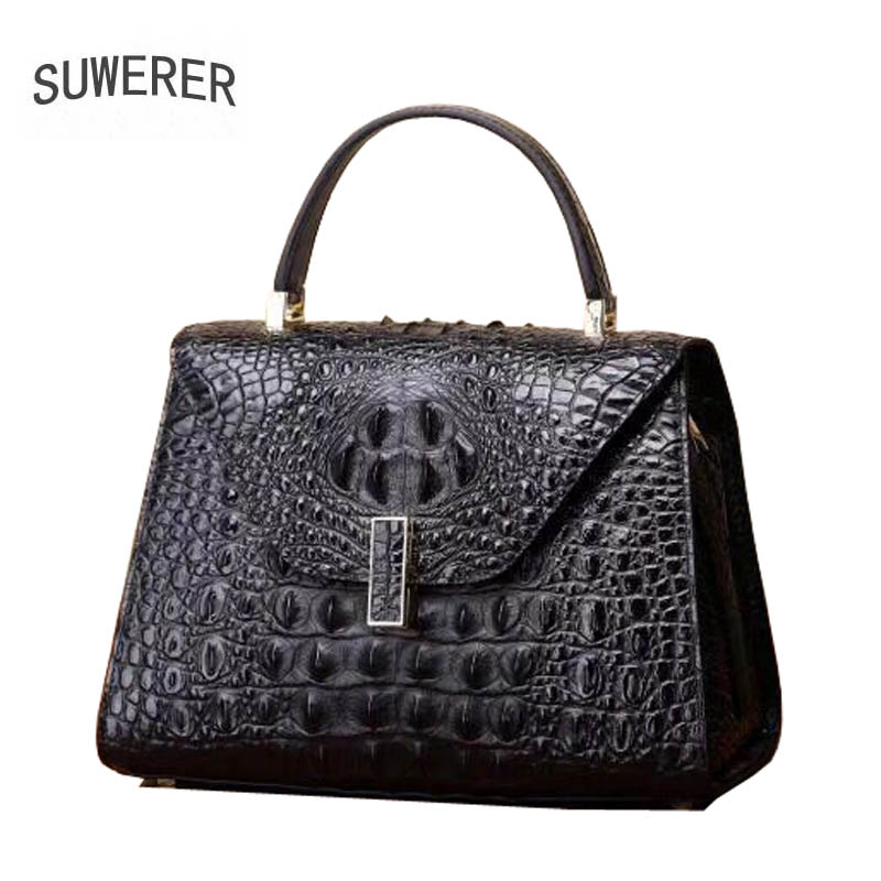 2018 New women genuine leather bag brands fashion Embossed crocodile pattern cowhide tote women handbags leather art bag 2018 new women bag genuine leather brands top quality cowhide chinese style embossed women handbags fashion leather tote bag