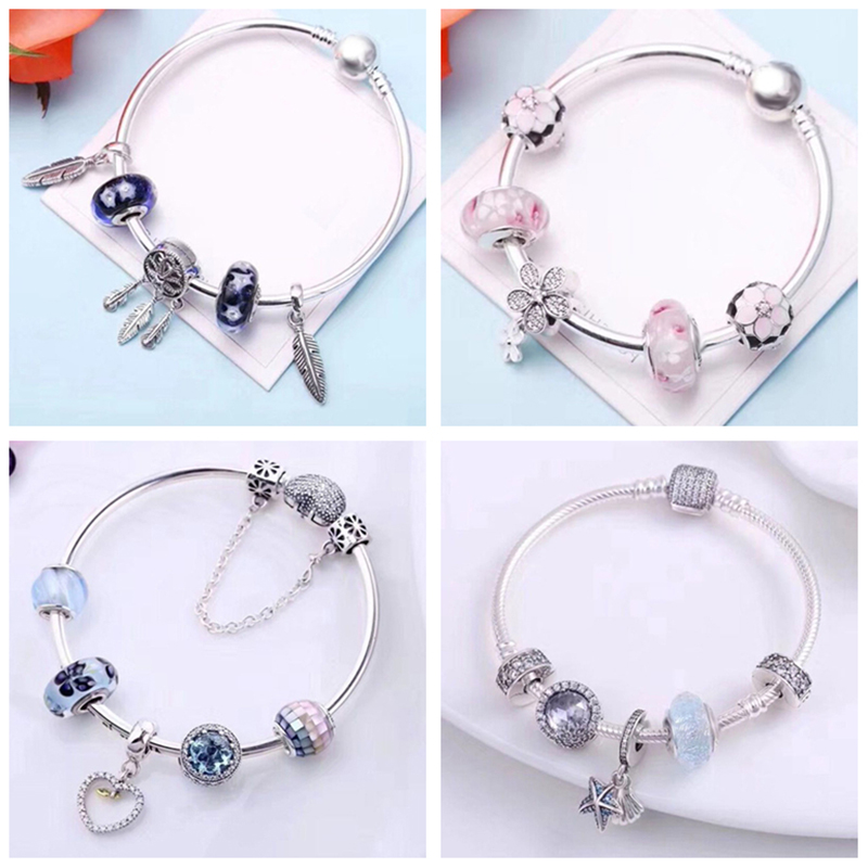 Authentic 925 Sterling Silver Charms Beads Snake Bracelet Fit Original Bracelets With Charms  Jewelry Women Gift Diy JewelryAuthentic 925 Sterling Silver Charms Beads Snake Bracelet Fit Original Bracelets With Charms  Jewelry Women Gift Diy Jewelry