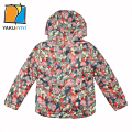YKYY YAKUYIYI Multi Color Print Girls Outwear Quilted Hood Baby Girls Outwears & Coat Zipper Children Jacket Girls Clothing