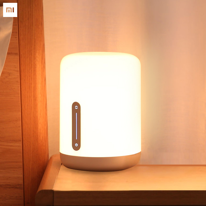 Original Xiaomi Mijia Mi Bedside Lamp 2 Bluetooth WiFi Touch Panel APP Control RGB Table Lamp Works with Apple HomeKit Siri-in Smart Remote Control from Consumer Electronics    1