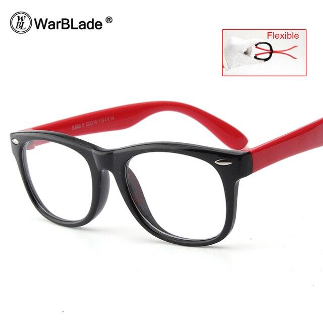 8843840bea58b WarBLade Infantil Bebê Crianças TR90 Armações de Óculos Criança Óculos de  Segurança Com Lente Clara,