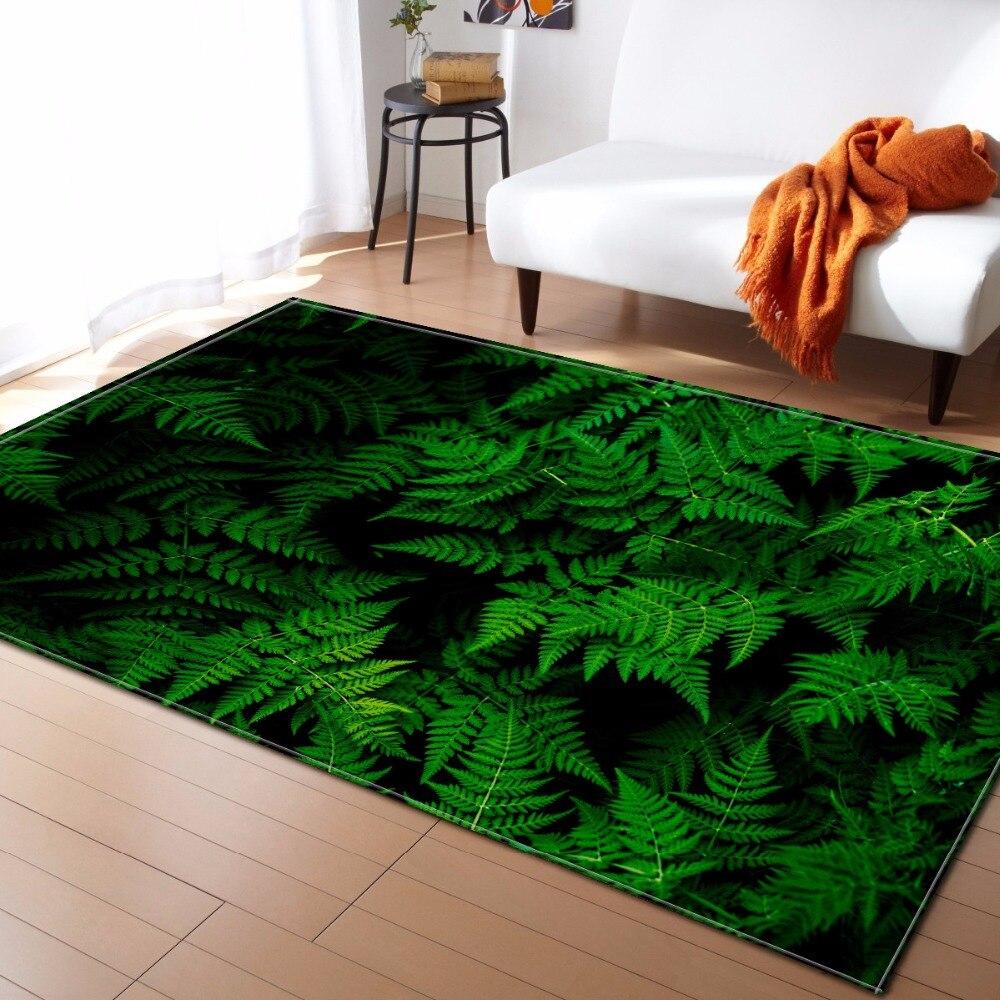 Luxy Floral Europe salon tapis chaise Yoga tapis feuilles tropicales canapé tapis de sol tapis et tapis petits tapis pour la maison LR08
