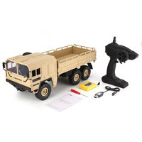JJRC Q64 1/16 2.4G 6WD RC Military Truck Off road Rock Crawler RTR Toys 6 Wheels RC Racing Truck Toy For Children Birthday Gift