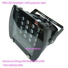 CE, IP65, хорошее качество, высокая мощность 16 Вт открытый светодиодный проектор света, светодиодный прожектор, DS-TN-06-16W, 110 В/220VAC, 2 года гарантии