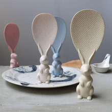 Cute Cartoon Peter Rabbit Rice Spoon Non Sticky Vertical Stand Rice Scoop Soup Sauce Ladle Kitchen Tool Dinner Francfranc(China)