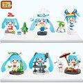 Loz mini bloques de diy modelo de ensamblaje de bloques de anime brinquedos juguetes para niños niñas juguetes regalos 1413-1418