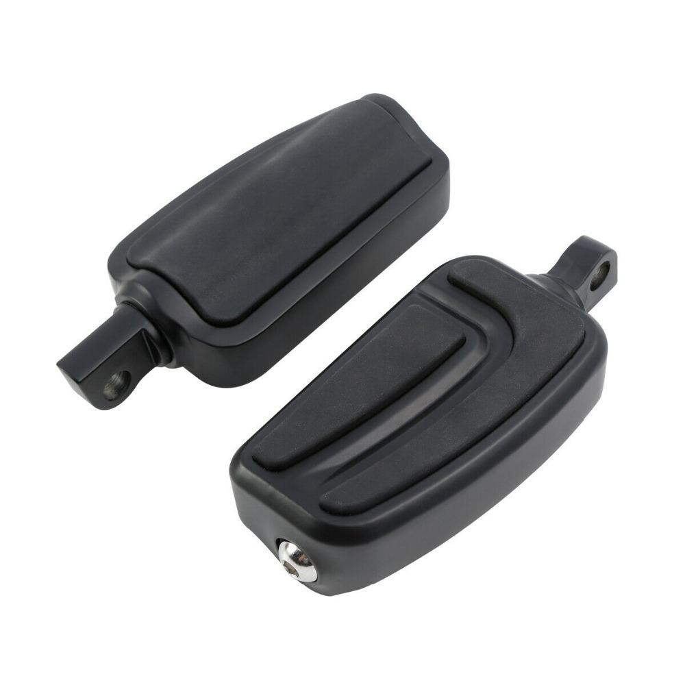 Matte Black 10mm Male Mount-Style Foot Pegs Footrest Fit For Harley Touring Dyna Electra Street Glide Sportster Road Glide King