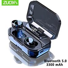 G02 X6 TWS 5.0 Bluetooth Wireless Earphone IPX7 Waterproof Earbuds Mic Handsfree Sports Earphones 3300mAh Charging Auto Pairing