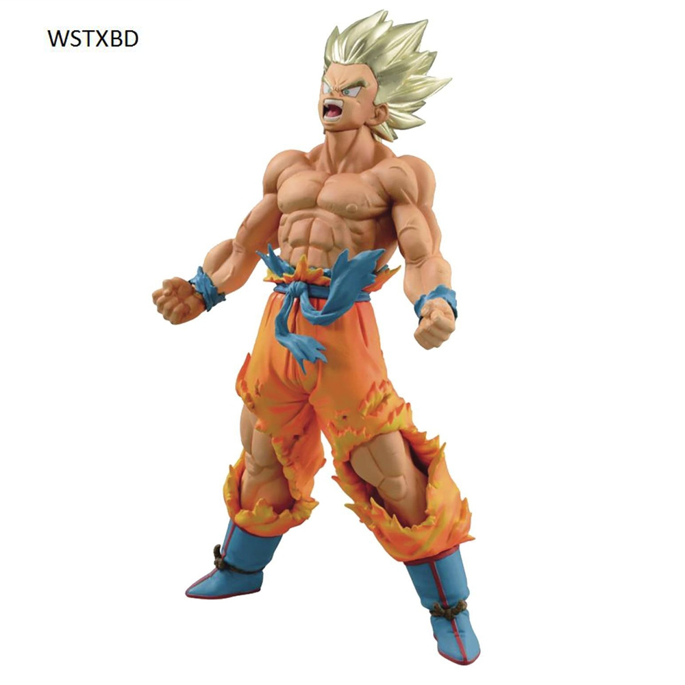 WSTXBD BANPRESTO Original Dragon ball Z DBZ Blood Of SaiYan BOS Goku PVC Figure Toys Figurals Model Dolls Brinquedos new original dragon ball z dbz blue god vegetto final pvc figure toys figurals model kids dolls