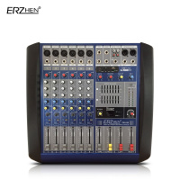 Audio Mixer Console W8000T6 Professional Mixer Audio Amplifier Sound Processor 6 Channel USB