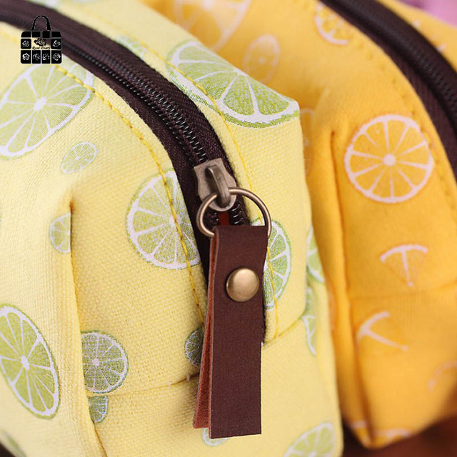 Rose Diary Colorful fruit series canvas zipper coin purses zero wallet child girl boy women purse,lady zero wallets,coin bag