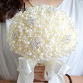 SoAyle Hot selling Wedding Bouquet 2016 nobility wedding flowers 20cm*29cm Artificial Beads Rhinestone crystal pearls